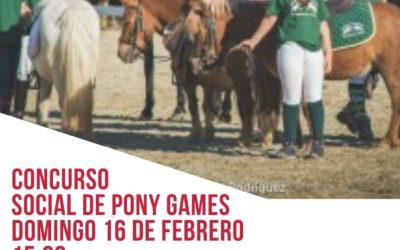 CONCURSO SOCIAL DE PONY GAMES DOMINGO 16 DE FEBRERO
